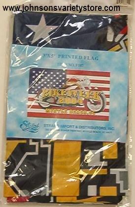 BIKEWEEK 2004 Myrtle Beach SC 64th annual FLAG 3' x 5'