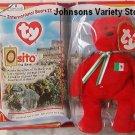 TY TEENIE BEANIES - Osito the Bear - Mexico