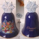 Avon Christmas Bell 1987 CAROLING KIDS-Snowflake Handle