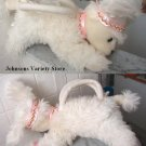 Off white Poodle Purse w/ sparkles Crown, collar & brac