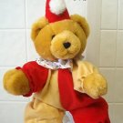 "Adorable 18"" high Clown Bear Plush Heartwarmers"