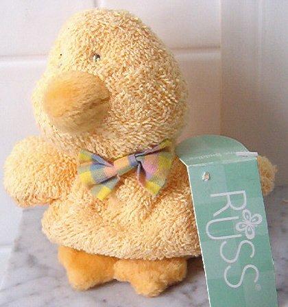 Russ Duck Chapsy Yellow plush Home Buddies w/ tags