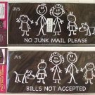 Mail Box Decor Decal / Sticker outdoor Waterproof 2-pk