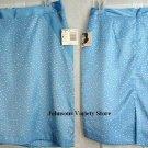 Jaclyn Smith elegant Blue w/ white dots skirt w/ slit