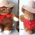 Adorable 'JUST LUV' brown Bear w/ Panhandle Pete scarf