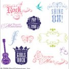 Disney Clear Stamp Collections Hannah Montana Shine On