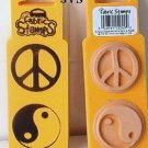 PEACE & YING-YANG Rubber stamps mounted on foam (2) New