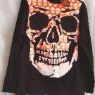 kIDS Unisex Skull design T-shirt Long Sleeve Black GOTH
