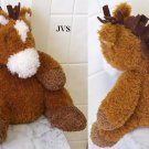 """Brown & White Mary Meyer Soft Plush Horse 9"""" tall"""