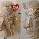 """1993 TY Attic Treasures GWYNDOLYN 8"""" Plush Tan Bear"""