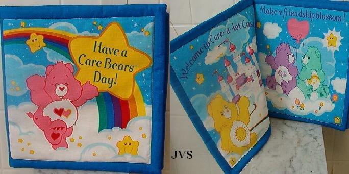 Handmade cloth childrens Care Bears pillow book
