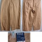 Basic Editions Stretch Classic fit Tan Capri pants Sz 6