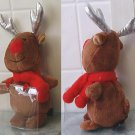 "Red Nose Reindeer plush w/ Gift Card Holder 8"" tall"