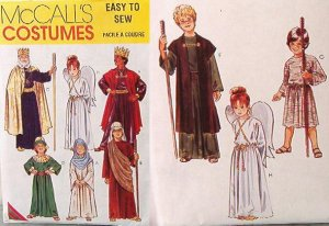 McCall's #2340 Nativity biblical historical costumes Kid sizes New