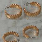 Goldtone Hoop Earrings Pieced