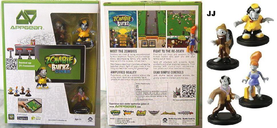 New AppGear Zombies Burbz DINER Mobile Application Game 4 iPad Or Droid Tablet
