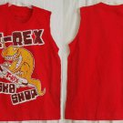 Fortune Fashions T-Rex SK8 Shop Red Size 7 youth Unisex sleeveless top