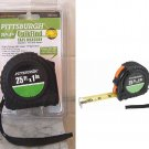 Pittsburgh 25 ft x 1 in Quikfind tape Measure High Strength ABS Rubber NEW