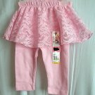 Girls Garanimals Pink Skeggings Skirt Leggings Pants 1 Piece Size 3-6mo NWT!