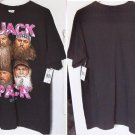 Duck Dynasty QUACK PACK Ladies Black w/ Pink Tee Shirt Size Large t-shirt NWT