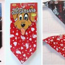 DOGGIEDANNA Pet Dog Cat Bandanas Red Black Set of 2 different SiZe Medium