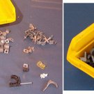 Variety of New Wire / Cord / Cable Guide Fasteners in Small Yellow Bin