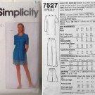 Simplicity 7527 Misses' Top, Pants and Shorts Size K (8,10,12) Maren Dress