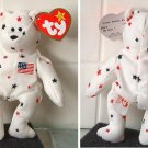 TY Teenie Original Beanie Babies Glory the Bear New w/ Heart Tag
