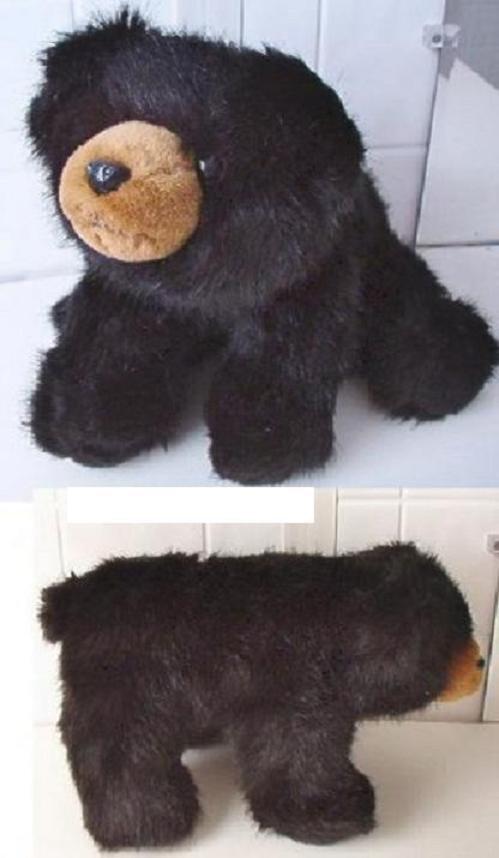 """Beautiful BEARINGTON COLLECTION BLACK BEAR 12"""" long"""