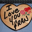 Single Heart Personalized Wood Sign