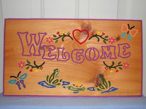 Large Country Welcome Sign