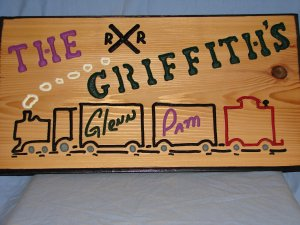 Large 21 x 11 Personalized Wood Sign
