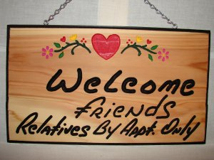 Medium Size Welcome Friends Sign
