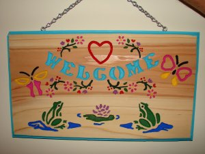 Medium Size Country Welcome Sign