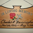"Large 21 x 11 ""In Loving Memory"" Sign"