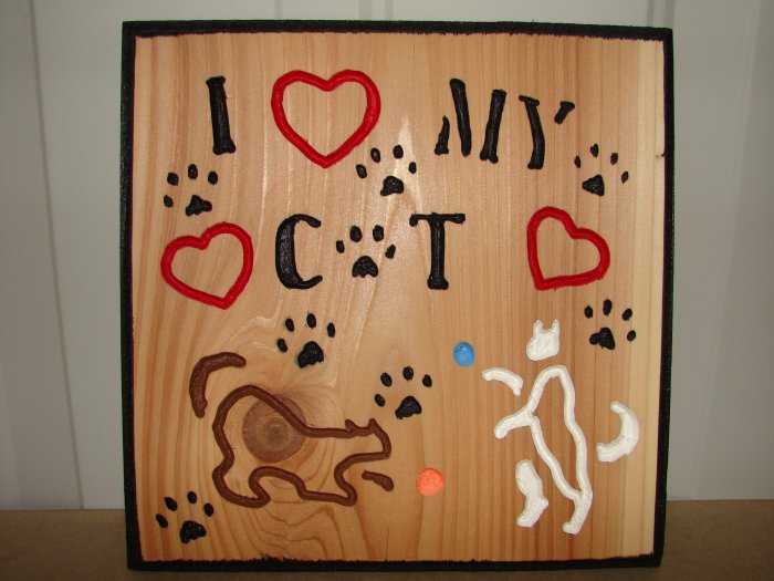 Small 9 x 9 I Love my Cat Sign