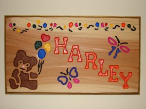 Meduim Size Personalized Wood Sign