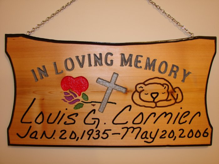 """Large 21 x 11 """"In Loving Memory"""" Sign"""
