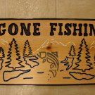 "Large ""Gone Fishin'"" Wood Sign"