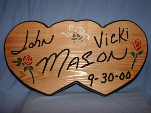 Double Heart Anniversary Sign
