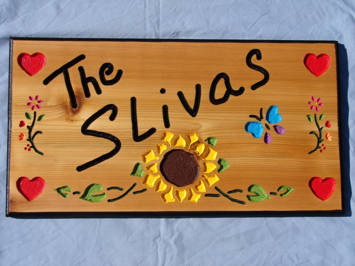 Large Personalized Wood Sign with Added Names