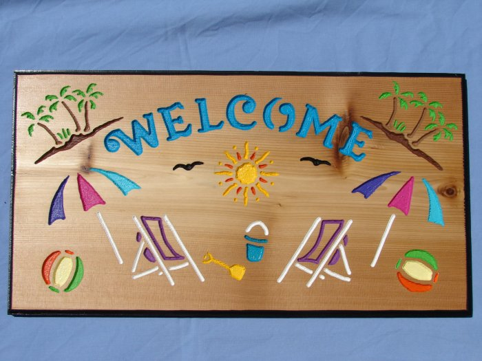 Beach Welcome Sign