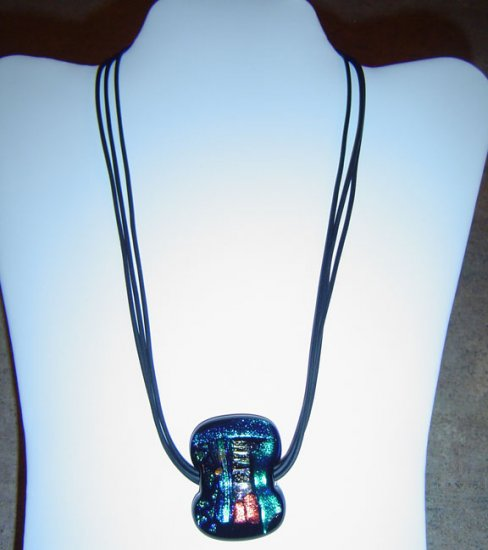 Assorted Blue Dichoic Glass Colors Pendant