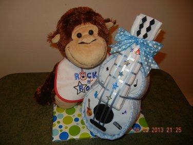 Monkey Guitar Diaper Cake
