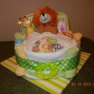 Safari Bath Time Bassinet Diaper Cake