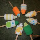 Baby Washcloth Popsicles, Baby Shower Favors