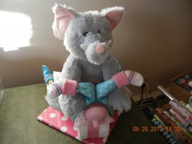 Elephant Tricycle Diaper Cake