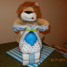 Lion Motorcycle Diaper Cake