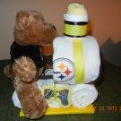 Pittsburgh Steelers Train Diaper Cake