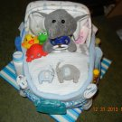 Bath Time Bassinet Diaper Cake